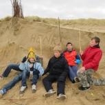 Op het strand in De Haan